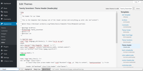 Add analytics code to WordPress editor