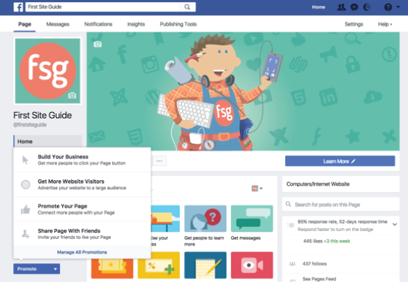 how to make a facebook advertisement page