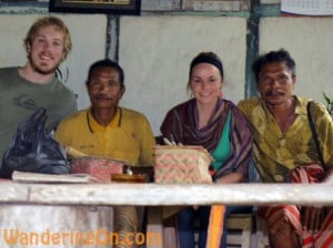 Brian and Noelle with the King of the Boti Tribe and his brother in West Timor, Indonesia