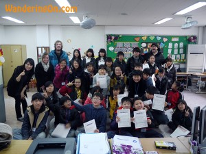 Brian and Noelle with their students in Iksan, South Korea