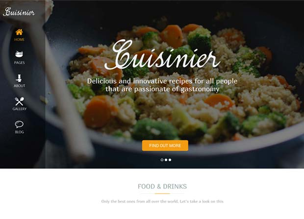 Cuisinier Theme Screenshot