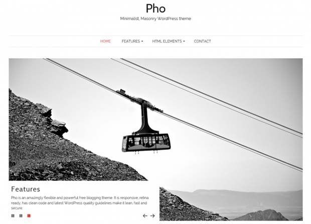 Pho Theme Screenshot