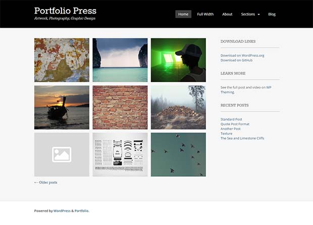 Portfolio Press Theme Screenshot