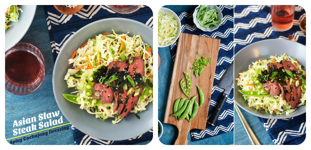 Asian Slaw Stake Salad - Dish Picture