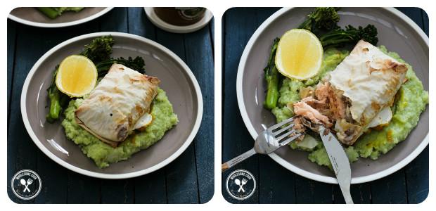 Baked Salmon Filo Parcels - Dish Picture