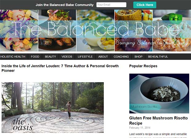 Balanced Babe Website Screenshot