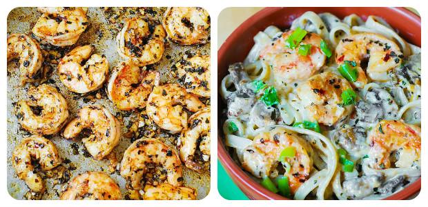 Creamy Shrimp and Mushroom Pasta - Dish Picture