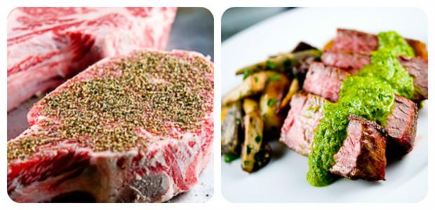 Grilled Ribeye Steak with Piri-Piri & Chimichurri - Dish Picture