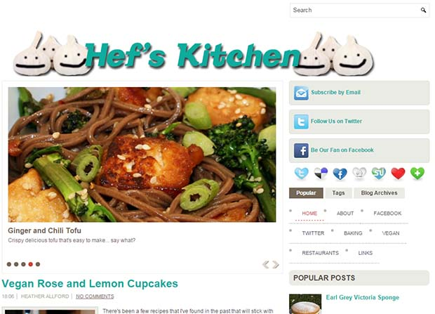 Hef's Kitchen - Website Screenshot