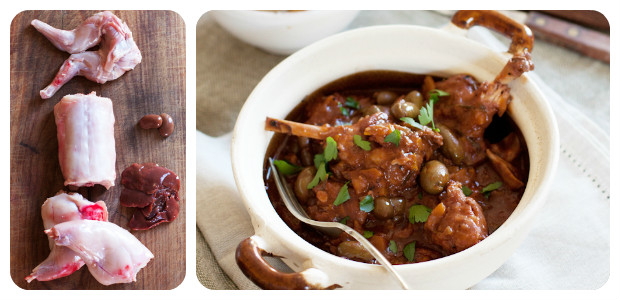 Hunter's rabbit stew with olives - Dish Picture