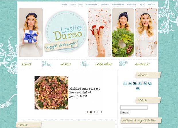 Leslie Durso - Website Screenshot