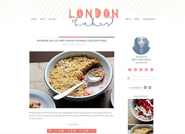London Bakes - Website Screenshot