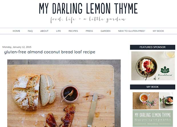 My Darling Lemon Thyme - Website Screenshot