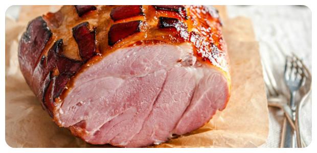 Pomegranate and Cider Glazed Ham - Dish Picture