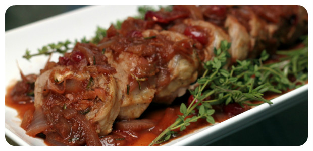 Pork Tenderloin with Balsamic-Cranberry Sauce - Dish Picture