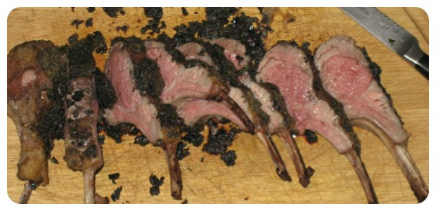 Rack of Lamb with Herb and Olive Crust - Dish Picture