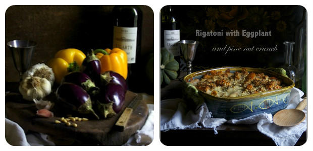Rigatoni with Eggplant and Pine Nut Crunch - Dish Picture