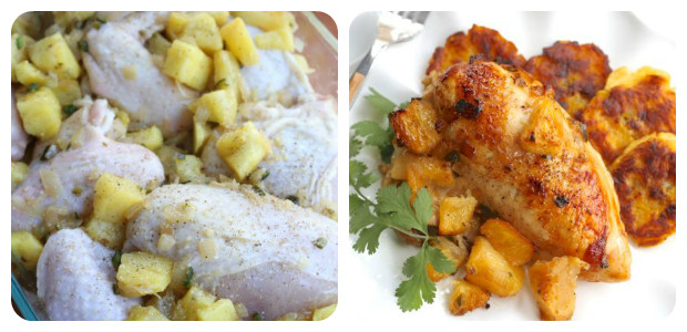 Roasted Pineapple Rum Chicken - Dish Picture