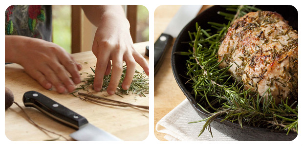 Roasted Pork Lion with Rosemary, Garlic and Fennel - Dish Picture