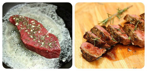 Rosemary Garlic Butter Steak - Dish Picture