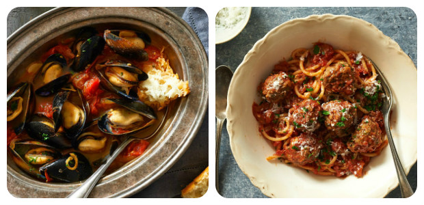 Smoked Paprika and Saffron Mussels; Spaghetti and Meatballs and a Fantastic Choucroute - Dish Picture