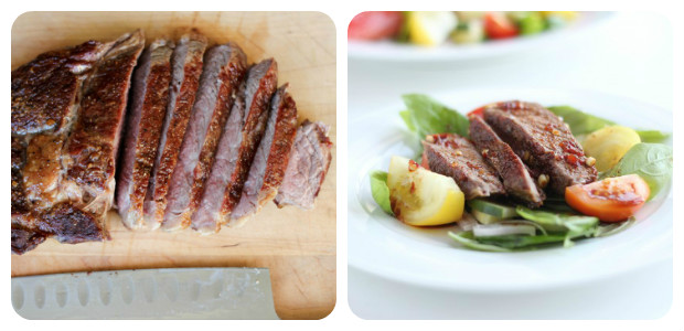 Spicy Basil, Tomato, Beef Salad - Dish Picture