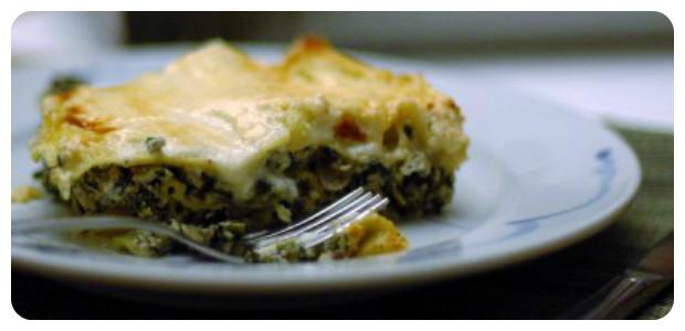 Spinach and Portobello Lasagna - Dish Picture