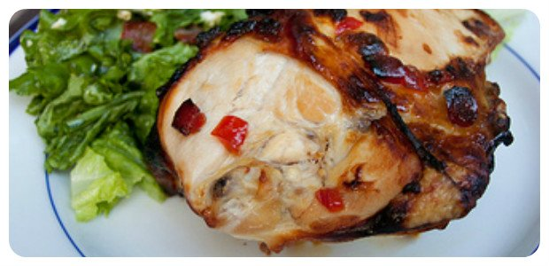 Split Chicken Breasts with Goat Cheese and Pepper Jelly - Dish Picture