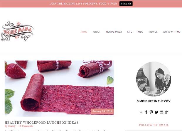 The Veggie Mama - Website Screenshot