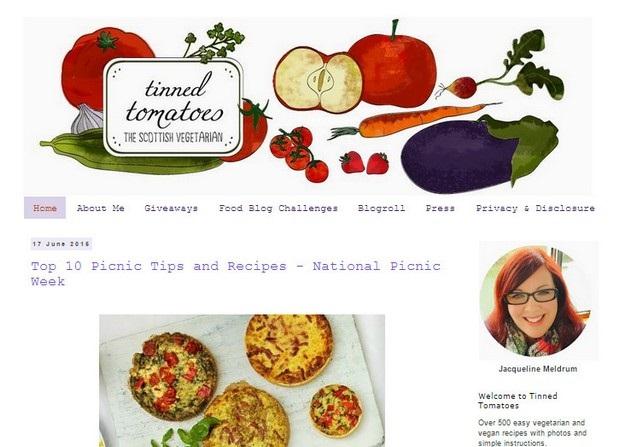 Tinned Tomatoes Website Screenshot