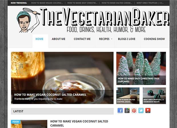 Vegeterian Baker - Website Screenshot