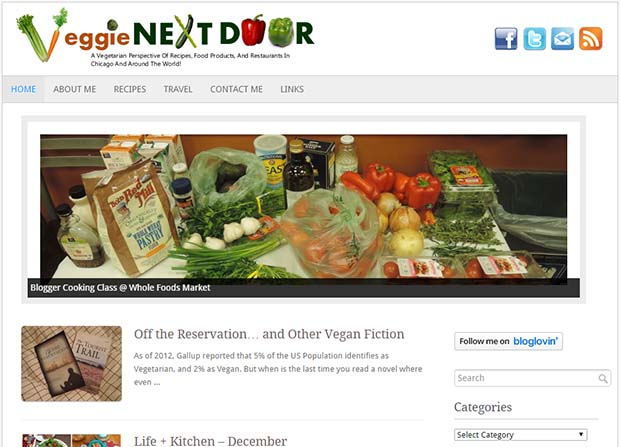 Veggie Next Door - Website Screenshot