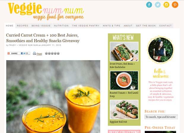 Veggie Num Num - Website Screenshot
