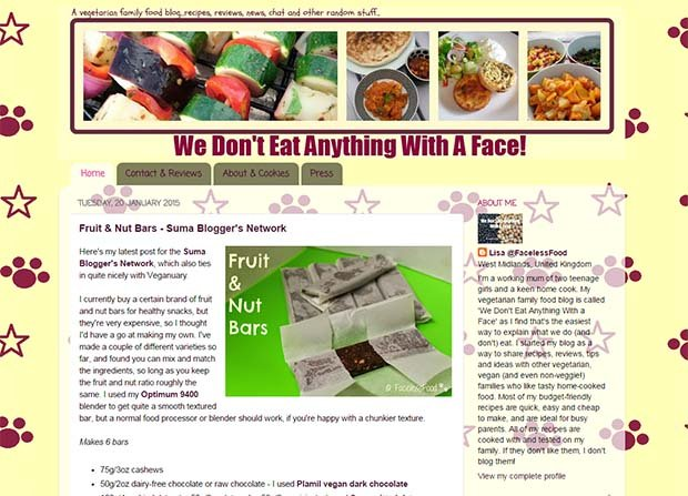 We Don't Eat Anything With A Face - Website Screenshot