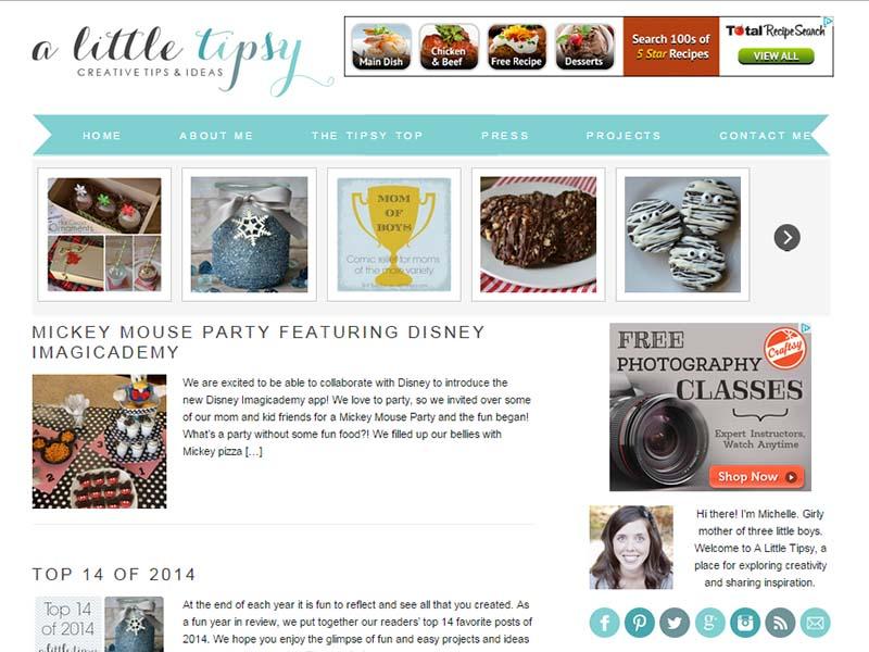A Little Tipsy - Website Screenshot