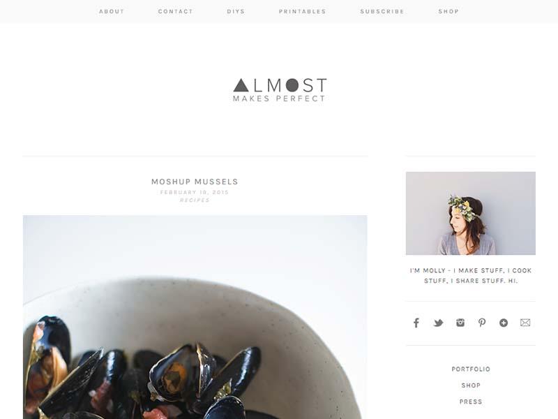 Almost Makes Perfect - Website Screenshot