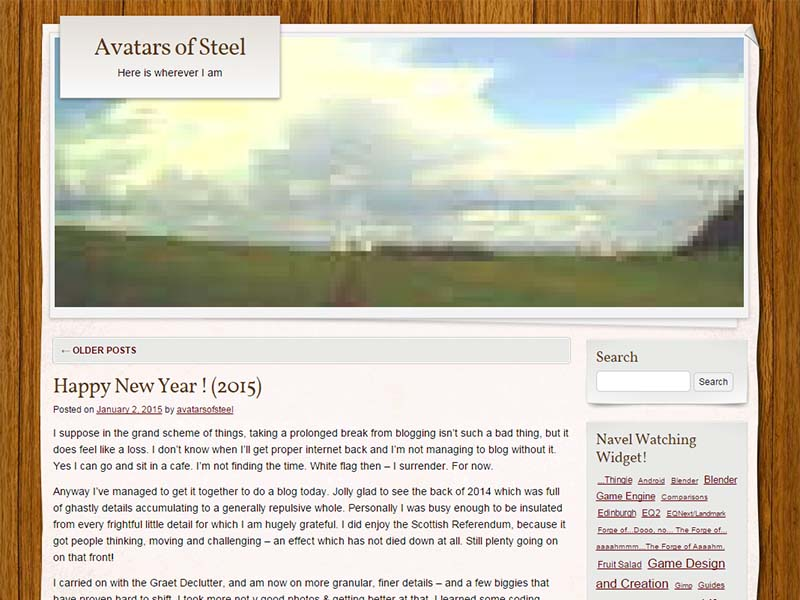 Avatars of Steel Website Screenshot