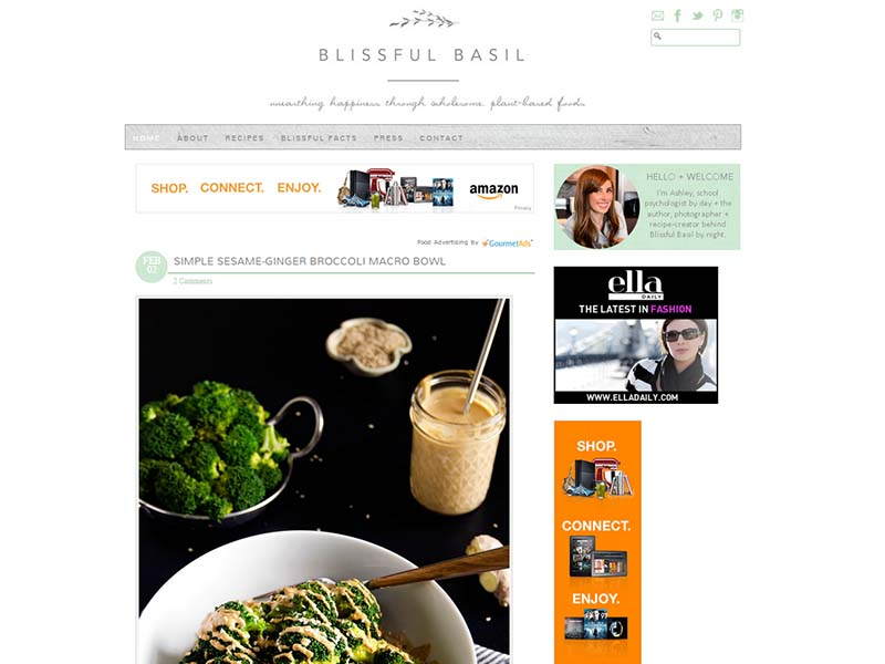 Blissful basil Website Screenshot