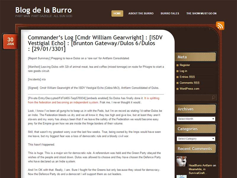 Blog de la Burro Website Screenshot