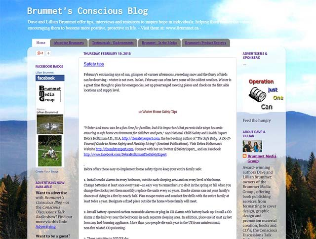 Brummet's Conscious Blog - Blog Screenshot