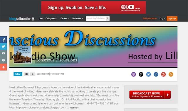 Conscious Discussions on blogtalkradio.com
