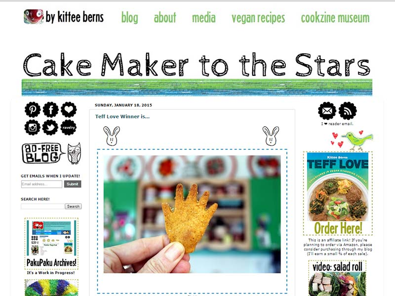 Cake Maker to the Stars Website Screenshot