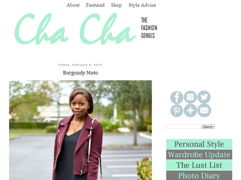 Cha Cha The Fashion Genius - Website Screenshot