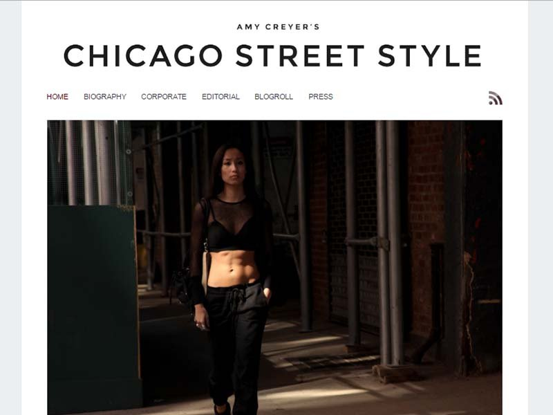 Chicago Street Style - Website Screenshot