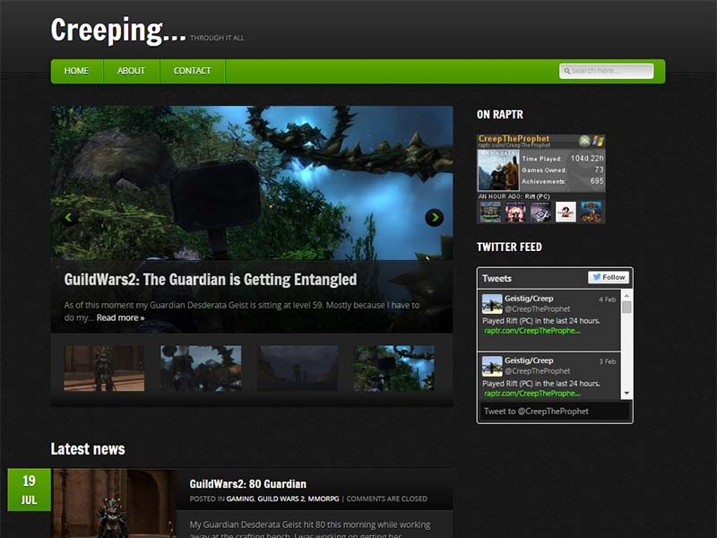 Creeping… Website Screenshot