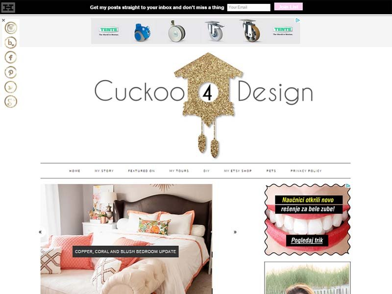 Cuckoo4Design - Website Screenshot