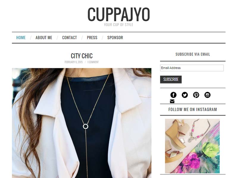 Cuppajyo - Website Screenshot
