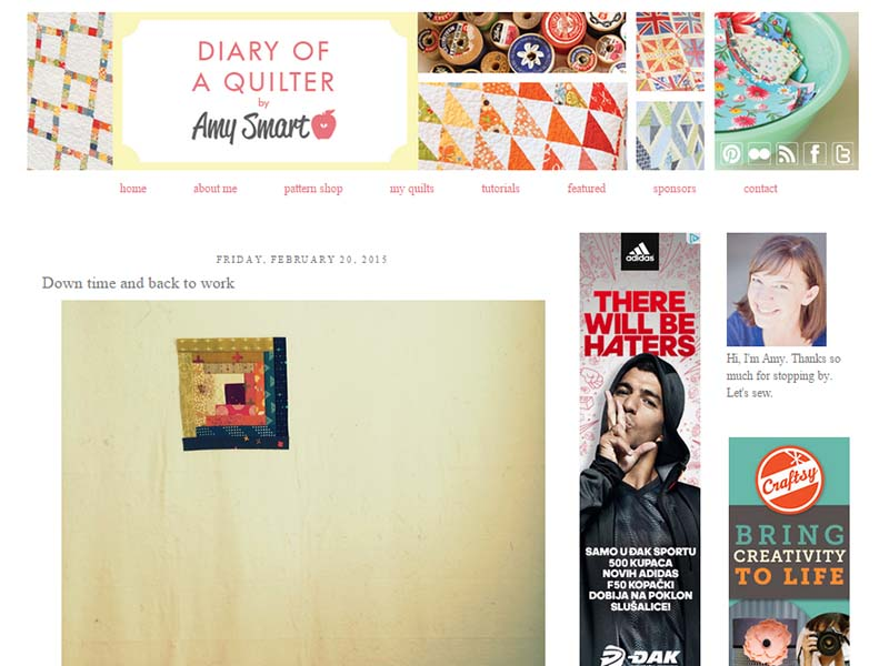 Diary Of a Quilter - Website Screenshot