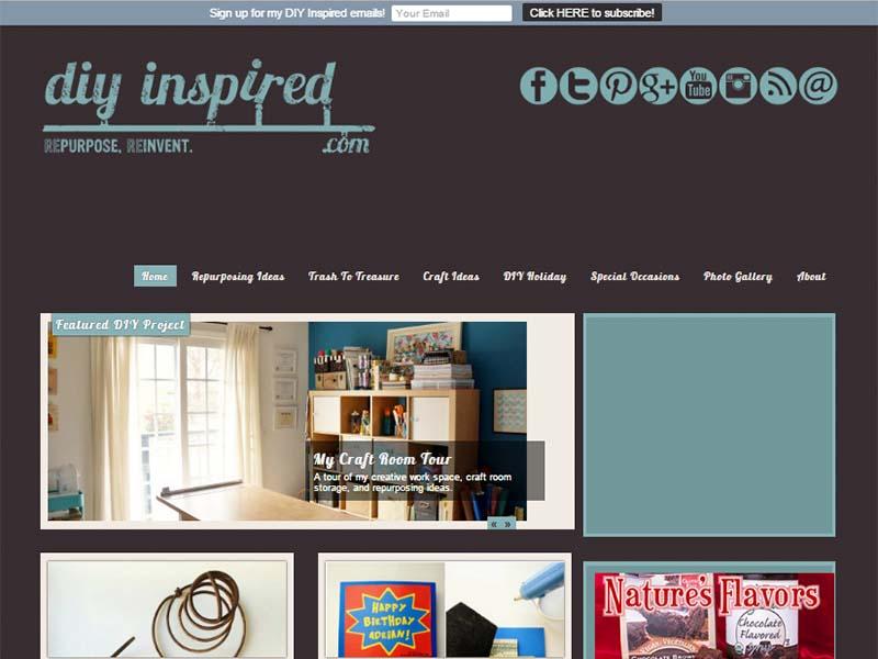 DIY Inspired - Website Screenshot