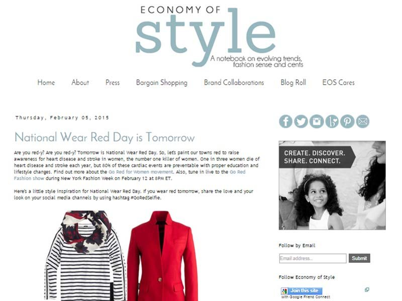 Economy Of Style - Website Screenshot